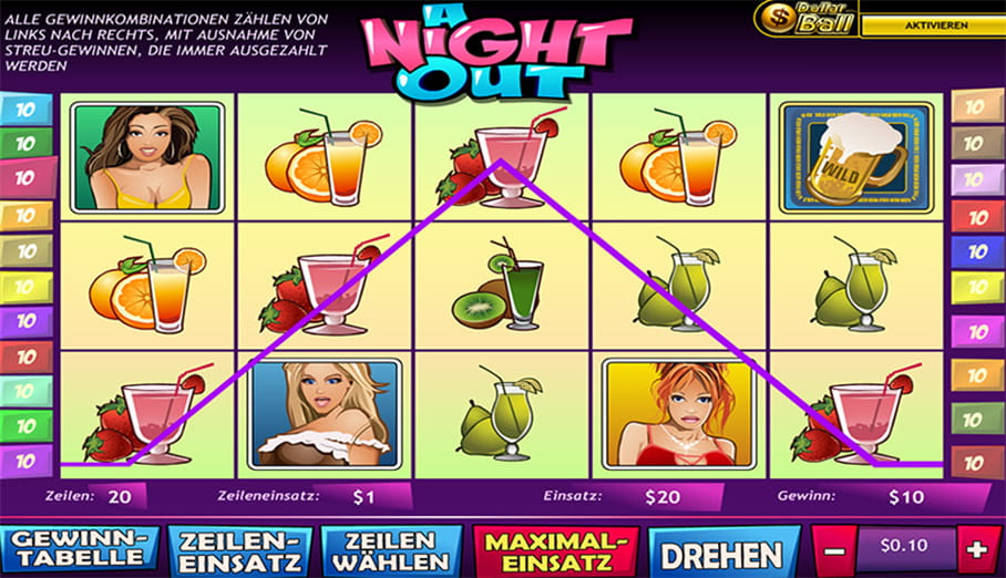 PlayTech A Night Out Spiel