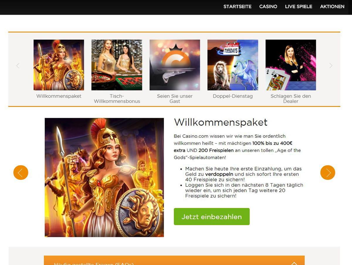Online Casino Aktionen