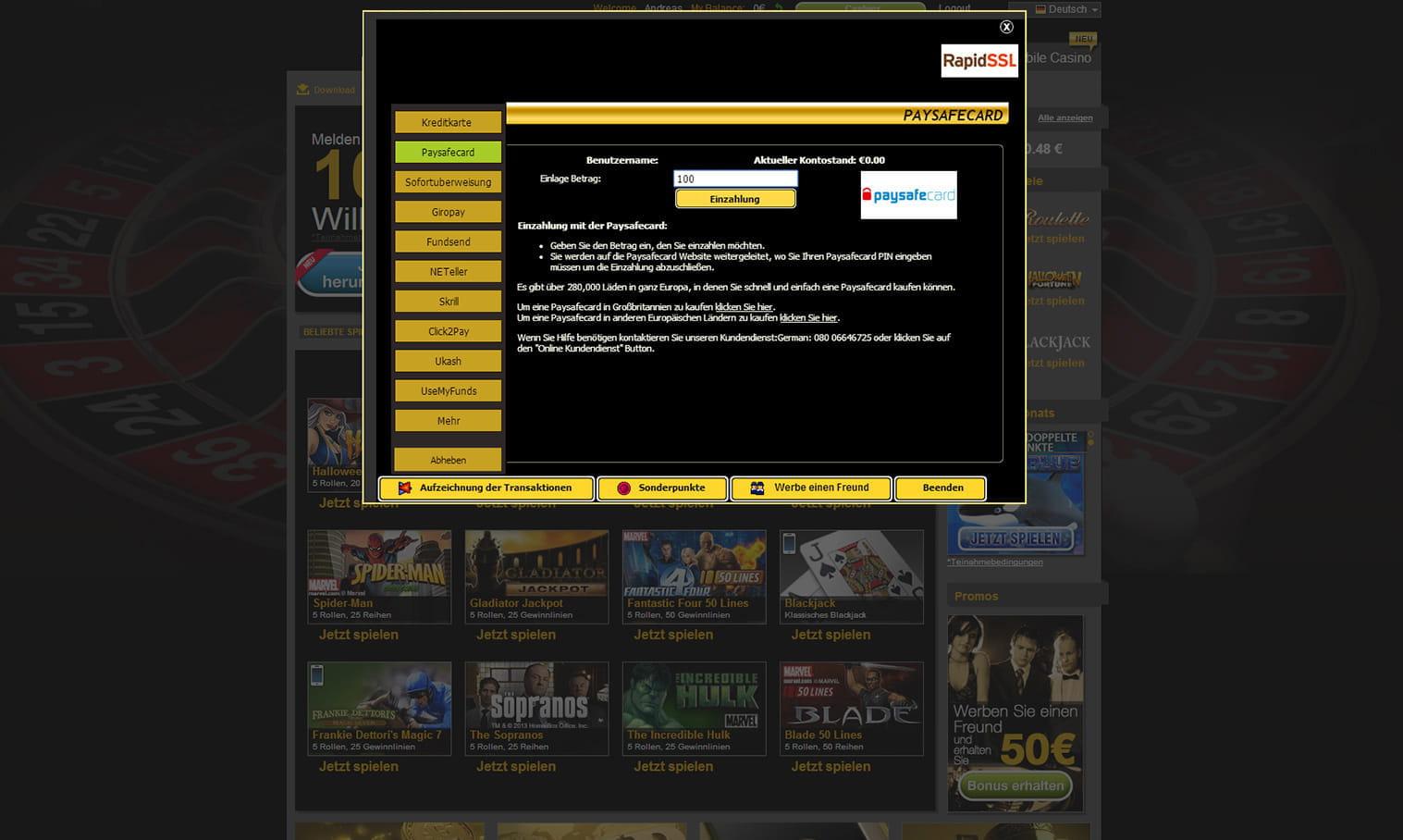 Paysafe Casino Online