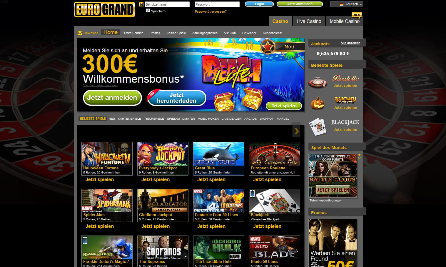 online casino euro biggest quasar