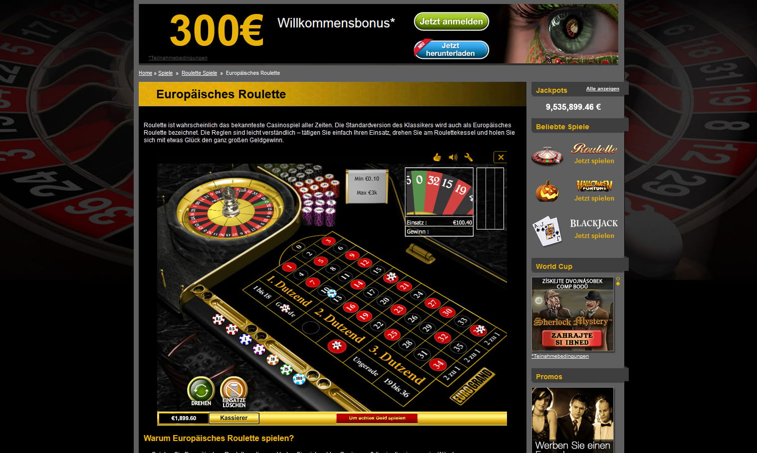 Euro Grand Roulette Gives You / instantly 25 Free Spins