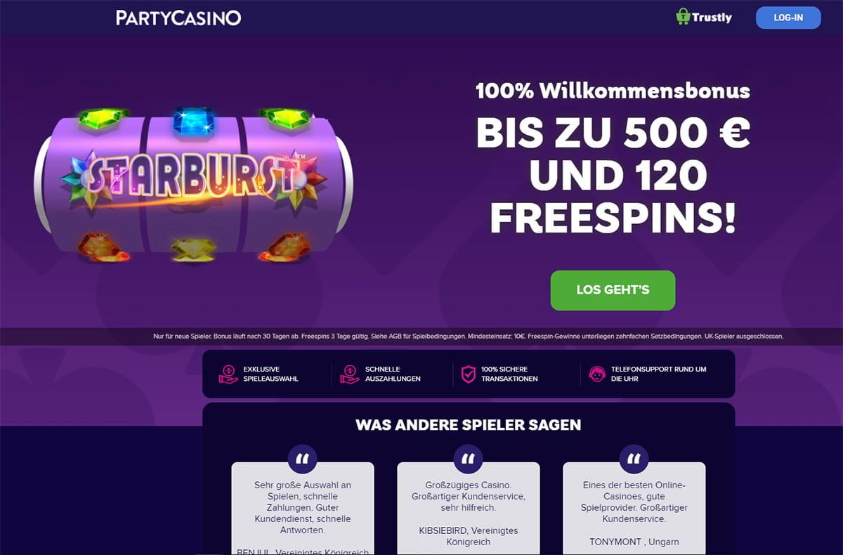 PartyCasino Bonuscode (2021) - Exklusiven ВЂ500 Bonus