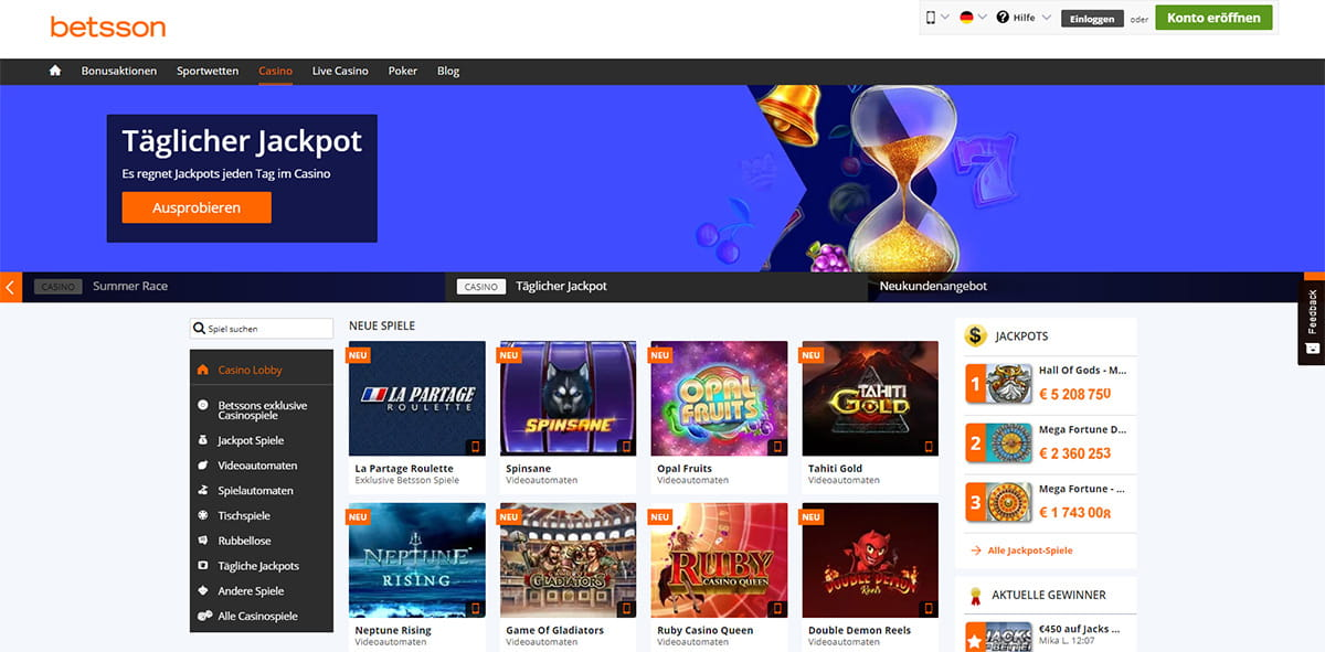 Betsson Online Casino Erfahrungen