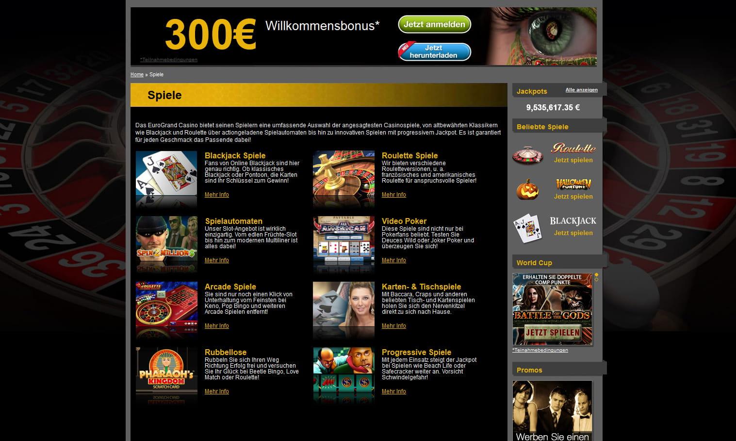 Eurogrand Casino Abzocke