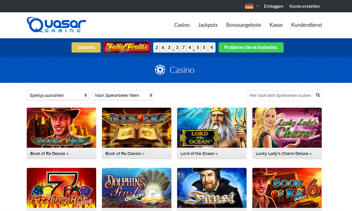 start online casino biggest quasar