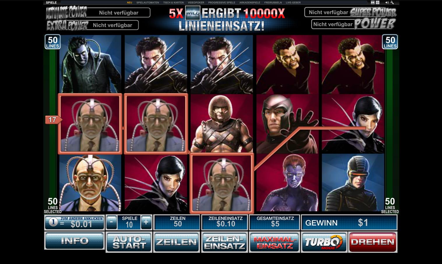 X Men Slots - Spielen Sie hier die X-Men-Slots gratis