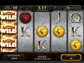 Der beliebte Microgaming TV-Slot Game of Thrones im Check